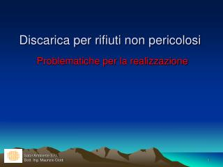Sator Ambiente S.r.l.  Dott. Ing. Maurizio Ciotti