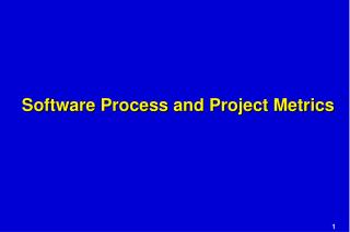 Software Process and Project Metrics