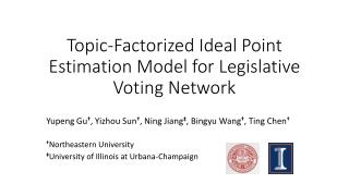 Topic-Factorized Ideal Point Estimation Model for Legislative Voting Network