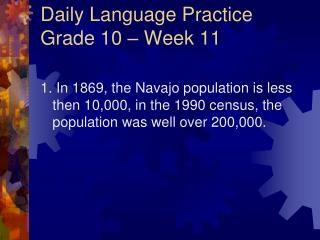Daily Language Practice Grade 10 � Week 11