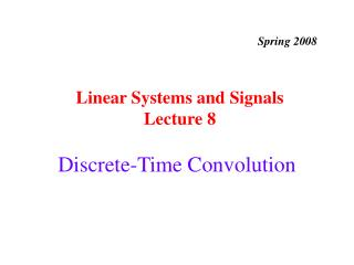 Discrete-Time Convolution