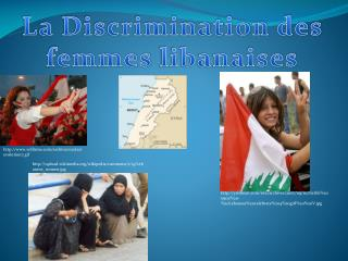 La Discrimination des femmes  libanaises