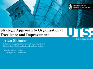 Strategic Approach to Organisational Excellence and Improvement