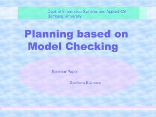 Planning based on  Model Checking