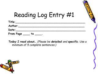 Reading Log Entry #1