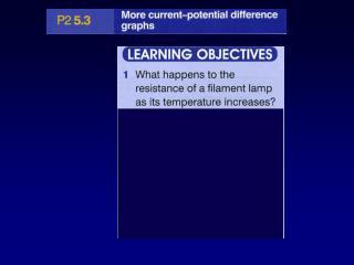Current-Voltage Characteristics of a bulb
