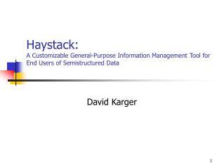 David Karger