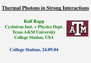Thermal Photons in Strong Interactions