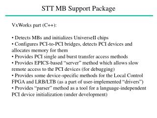STT MB Support Package
