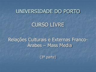 UNIVERSIDADE DO PORTO