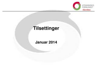 Tilsettinger Januar 2014