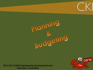 2012-2013 CDCKI Membership Development and Education Committee