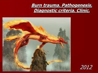 Burn trauma .  Pathogenesis. Diagnostic criteria. Clinic.