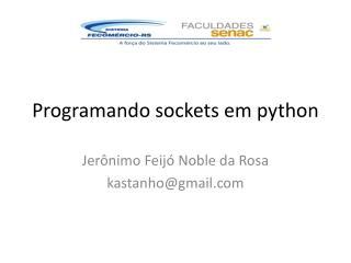 Programando sockets em python