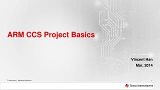 ARM CCS Project Basics