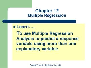 Chapter 12 Multiple Regression