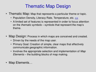 Thematic Map Design