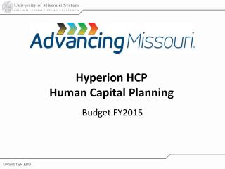 Hyperion HCP Human Capital Planning