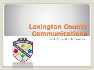 Lexington County Communications
