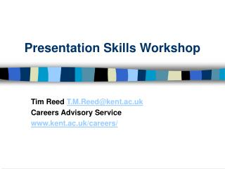 Presentation Skills Workshop
