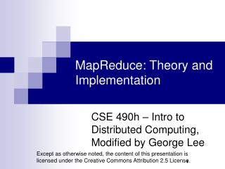 MapReduce: Theory and Implementation
