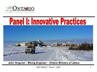 Panel I: Innovative Practices