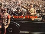 II. Fascism in Europe