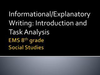 EMS 8 th  grade Social Studies