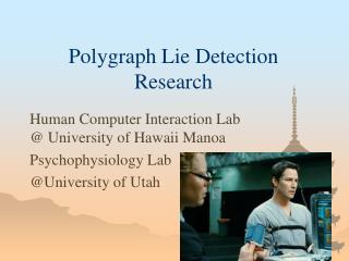 Polygraph Lie Detection Research