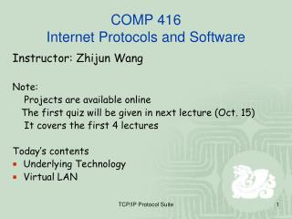 COMP 416 Internet Protocols and Software