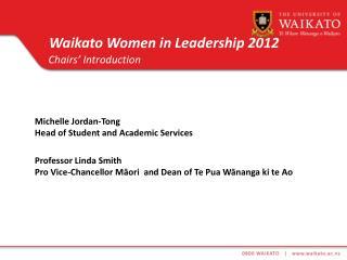 Waikato Women in Leadership 2012