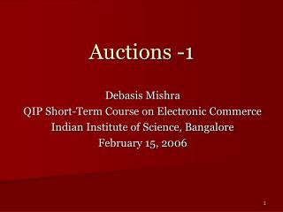 Auctions -1