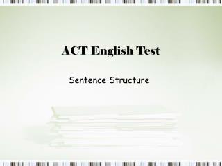 ACT English Test