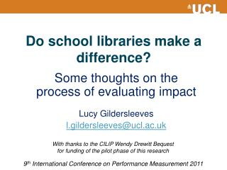 Do school libraries make a difference?