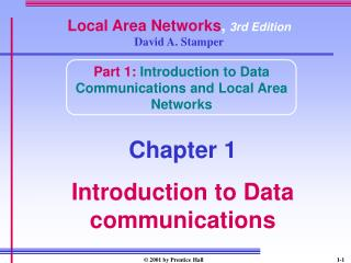 Local Area Networks ,  3rd Edition David A. Stamper