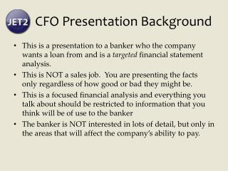 CFO Presentation Background