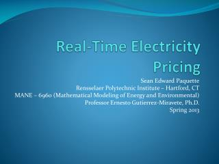 Real-Time Electricity Pricing