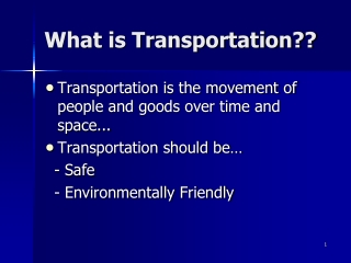 Transportation Vehicles  Society