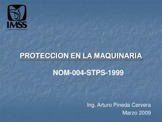 PROTECCION EN LA MAQUINARIA