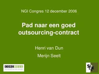Pad naar een goed outsourcing-contract