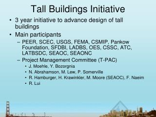 Tall Buildings Initiative