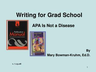 Writing for Grad School