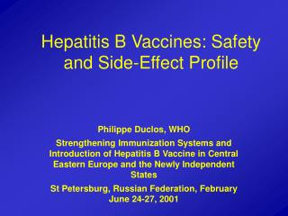 Hepatitis B Vaccines: Safety and Side-Effect Profile