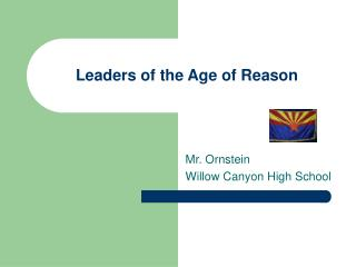 Leaders of the Age of Reason