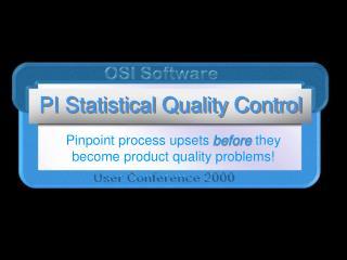 PI Statistical Quality Control