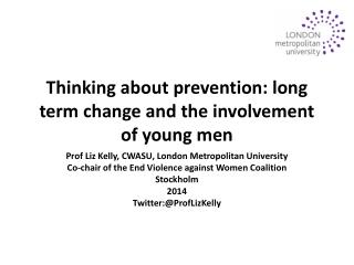 Thinking about prevention: long term change and the involvement of young men
