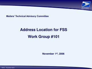 Mailers  Technical Advisory Committee