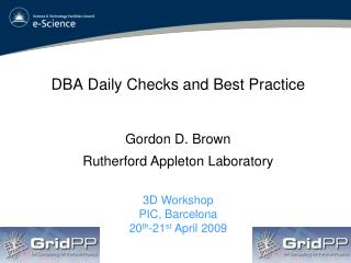 DBA Daily Checks and Best Practice