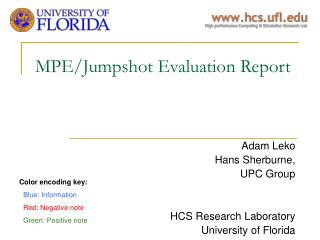 MPE/Jumpshot Evaluation Report