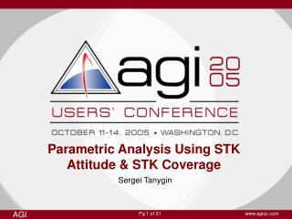 Parametric Analysis Using STK Attitude & STK Coverage